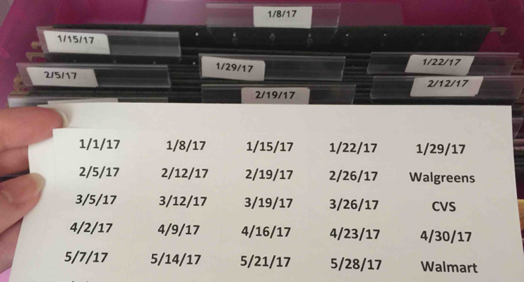 Date Tab Stickers {Free Shipping}