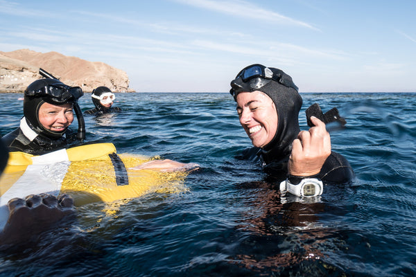 THERE'S NO SEA LIKE YOUR OWN SEA -FREE DIVER CLAIRE WALSH A VOYA AMBASSADOR