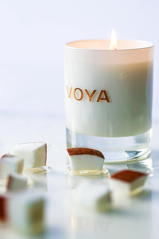 Voya Coconut and Jasmine Scented Candle