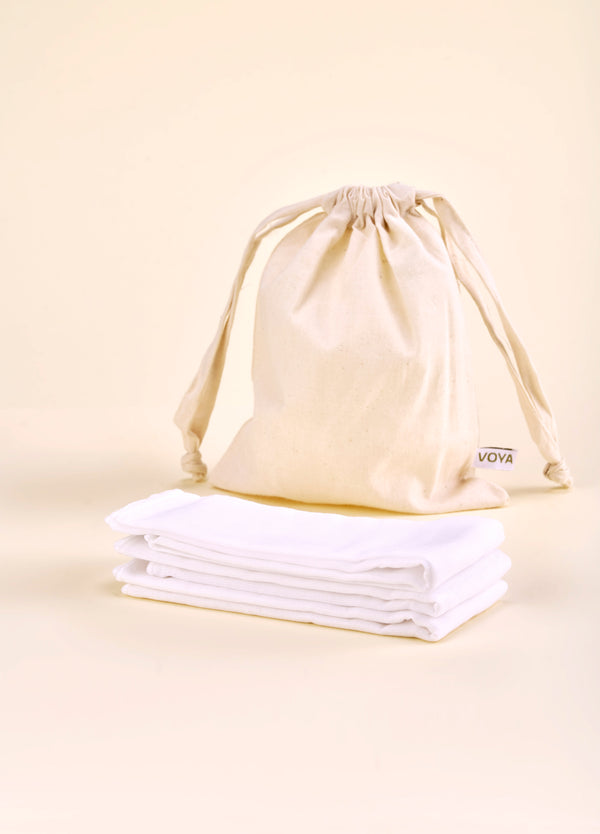 Organic Muslin Facial Cloths
