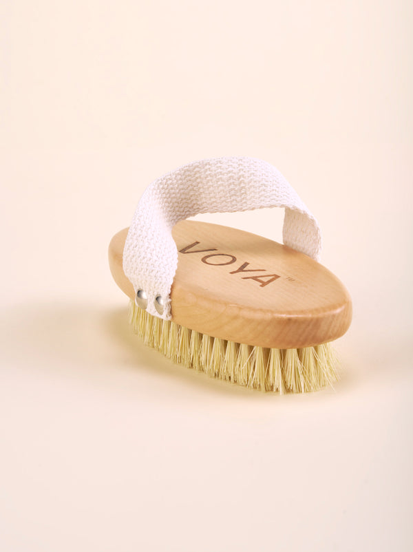 Exfoliating Body Brush & Organic Cotton Pouch