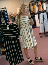Load image into Gallery viewer, Stripe High Waist Swing Dress