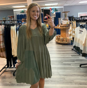 Perfect Little Olive Dress