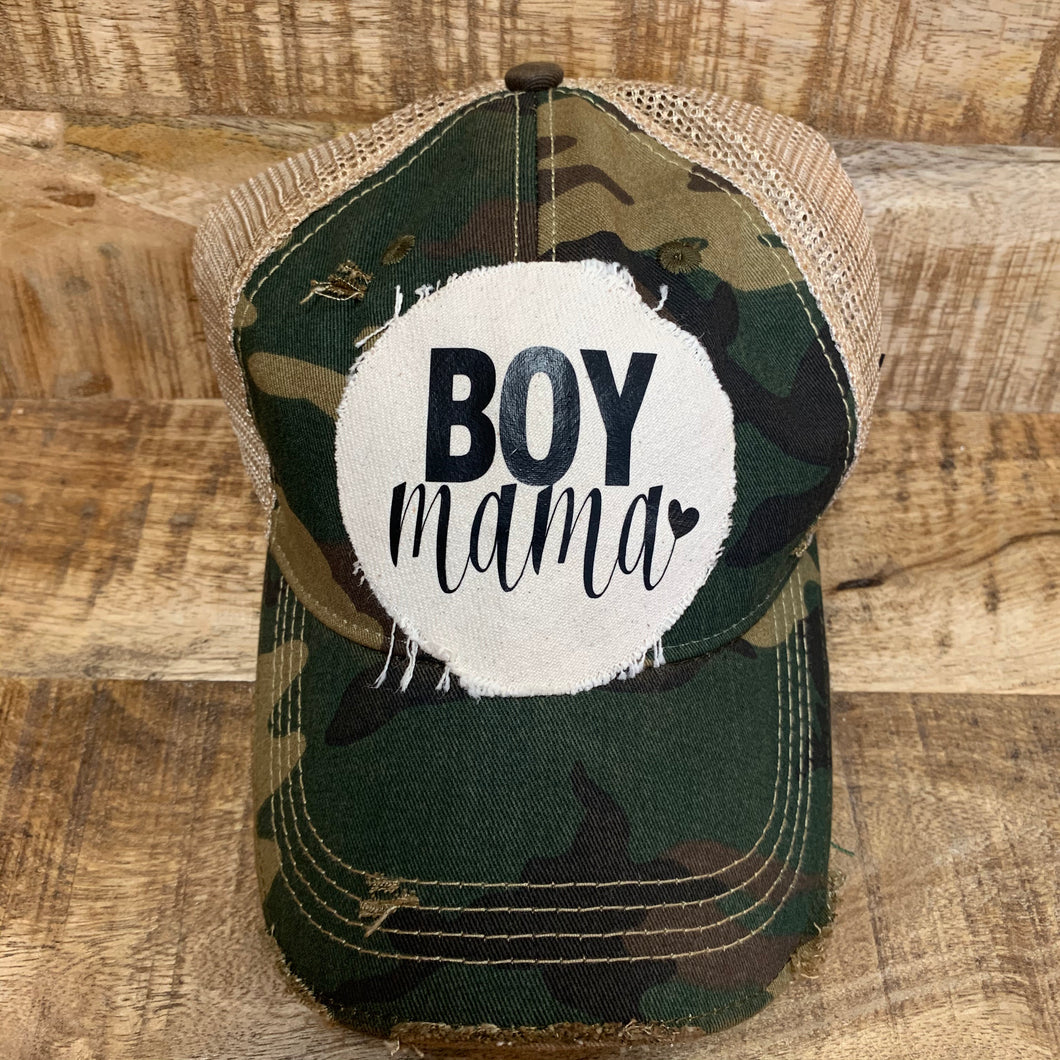 Distressed Boy Mama Hat