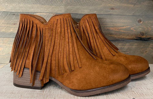 Brown Tassel Bootie