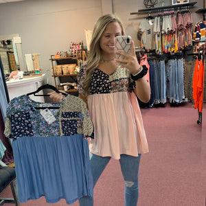 Out On The Town Babydoll Top