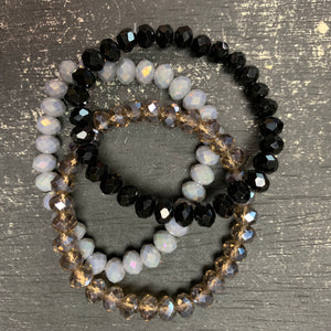 Starry Night Bead Stack Bracelet