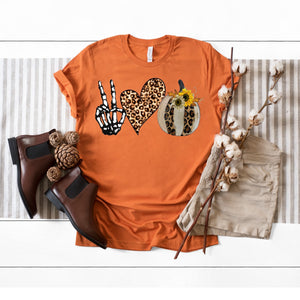 Peace ✌️ Love 🧡 Pumpkin 🎃 Tee