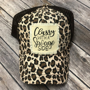 Leopard Classy With A Savage Side Baseball Hat