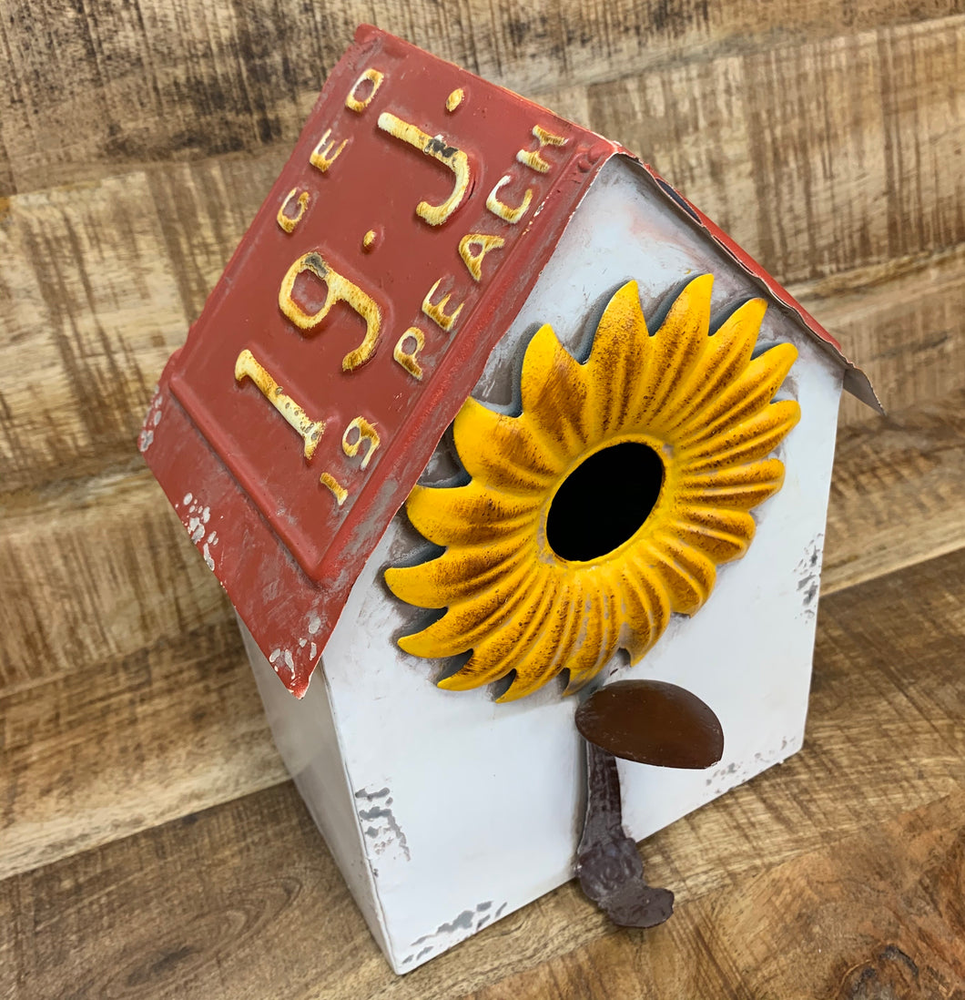 Metal Sunflower w/ GA Tag Roof