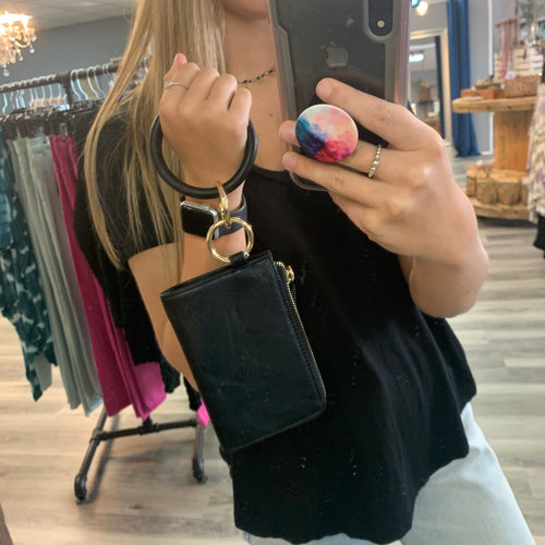 Let's Go Wristlet ~ Black