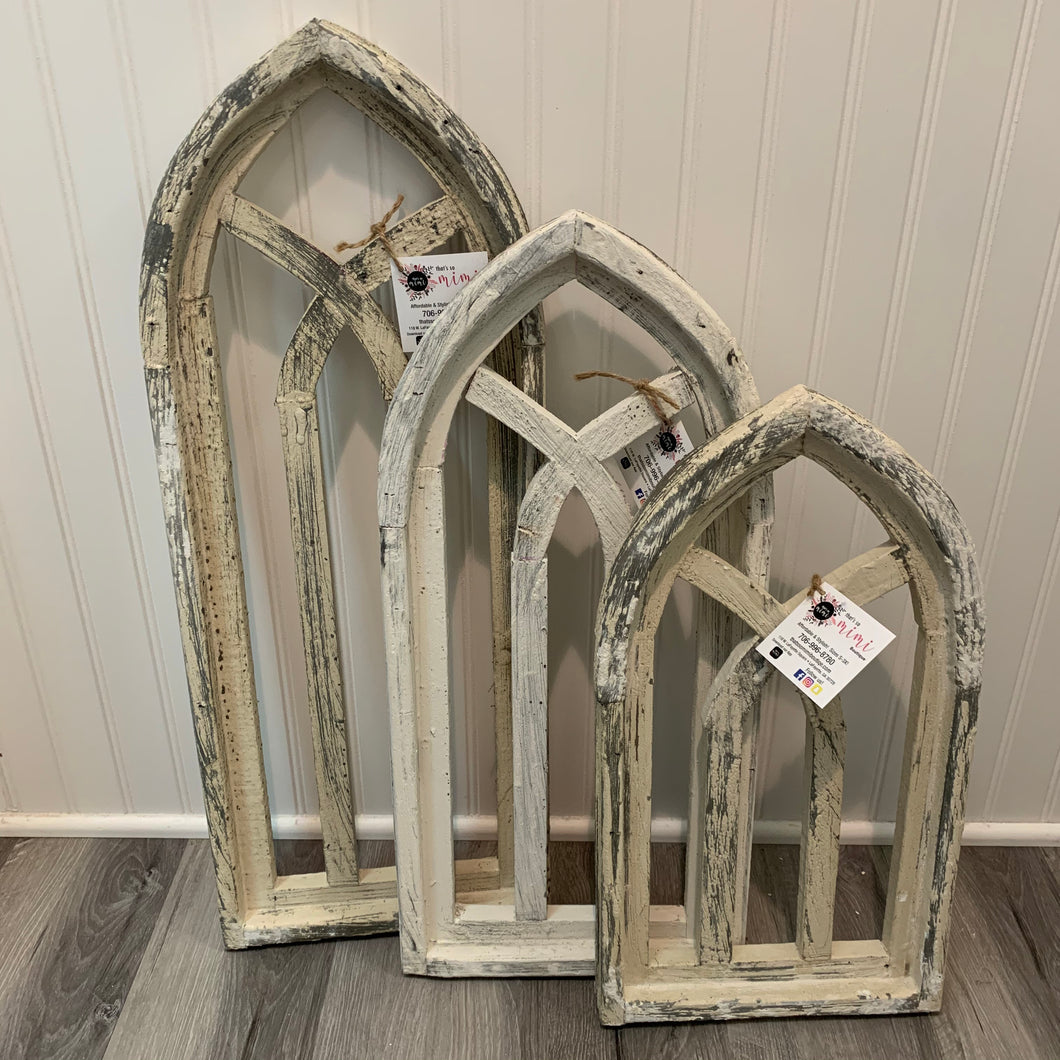 White Wash Wood Arch