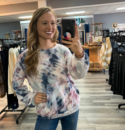 Daydreams Tie Dye Thermal Sweater