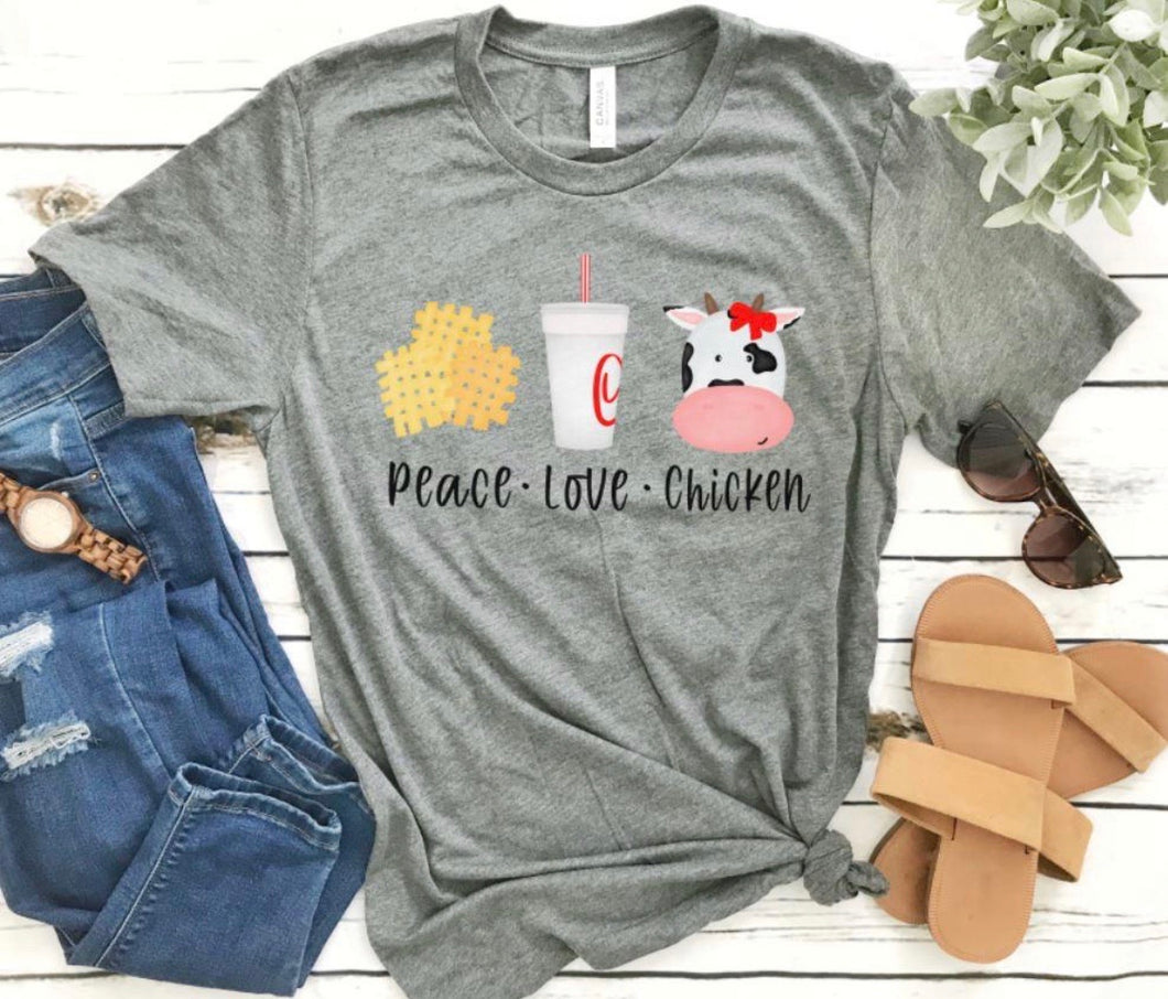 Peace Love Chicken TShirt