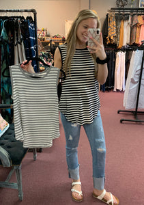Sleeveless Striped Top