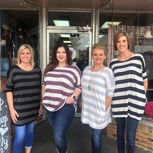 Stripe Piko Tunic