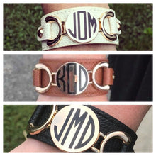 Load image into Gallery viewer, Monogram Cuff Bracelet