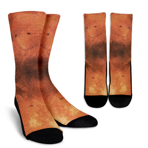 Crew Socks Orange Inferno