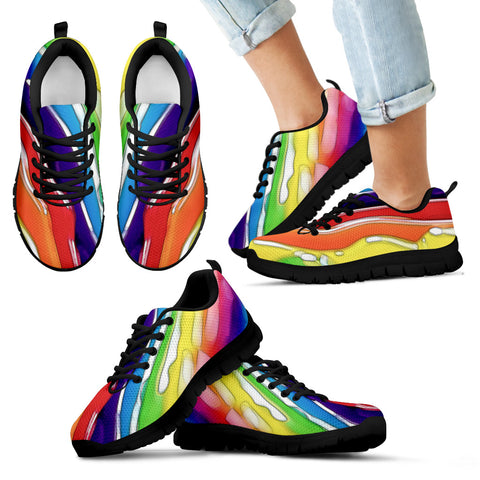 Kid's Sneakers Rainbow Road - Black Soles