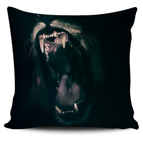 Pillow Cover Lion Roaring