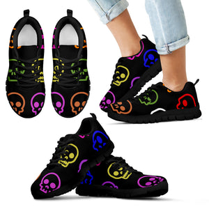 Kid's Sneakers Skull Madness - Black Soles