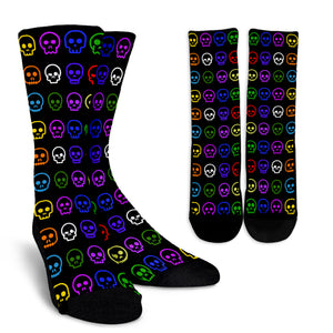 Crew Socks Skulls Colorful