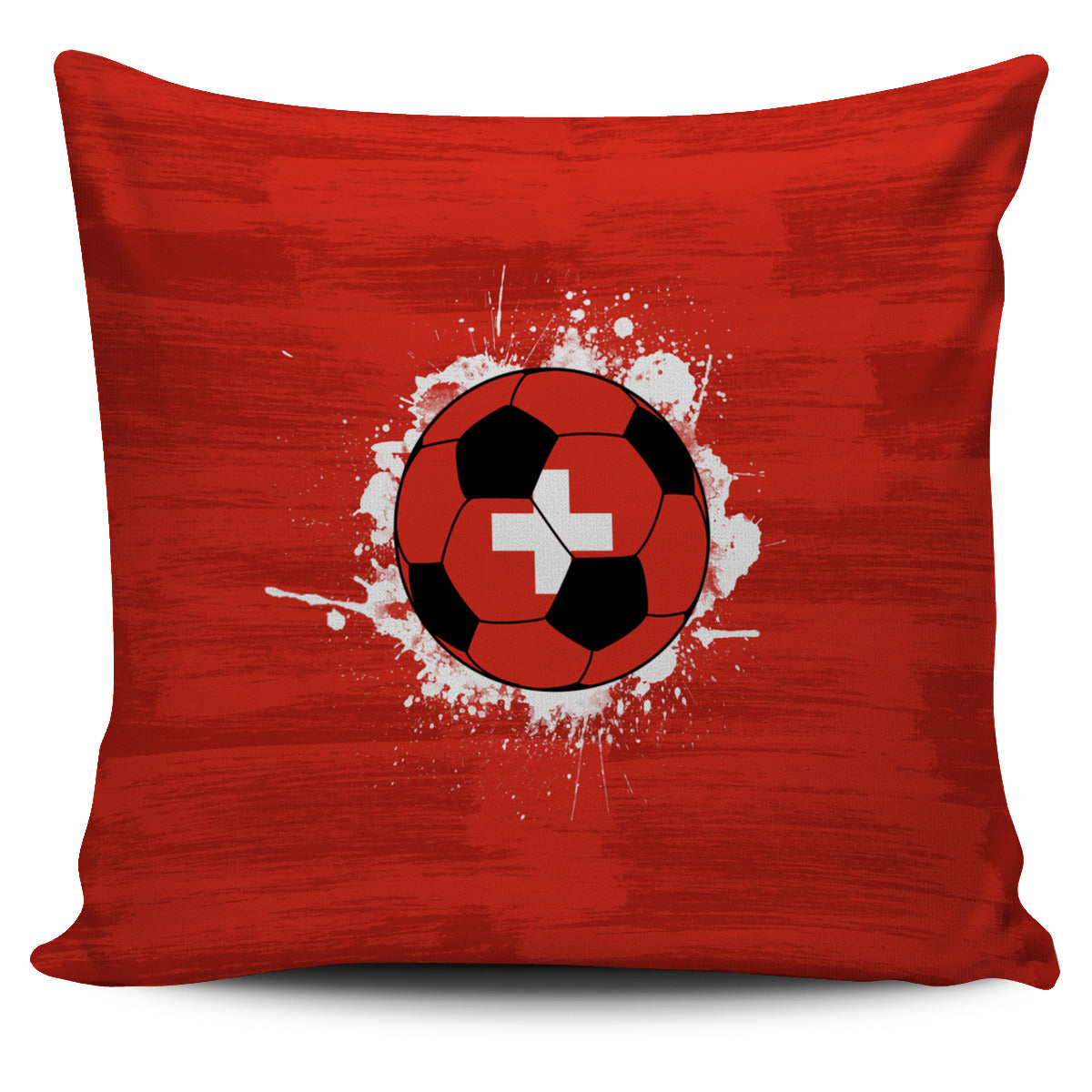 Switzerland Soccer Pillow Cover Collection