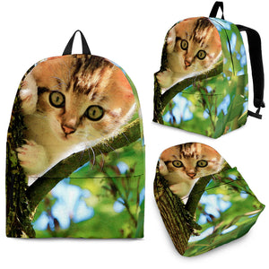 Mischievous Kitten Backpack Kids
