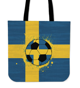 Sweden Soccer Tote Bag Collection