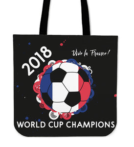 France 2018 World Cup Champions Tote Bag