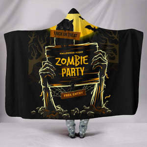 Hooded Blanket Halloween Zombie Party - Plush Lined