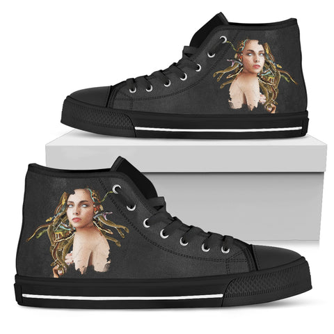 women's high tops medusa black soles