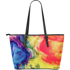 Large Leather Tote Paint