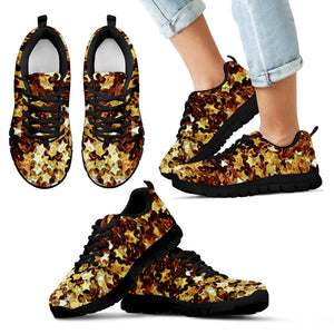 Kid's Sneakers Gold Star - Black Soles