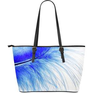Large Leather Tote Feather