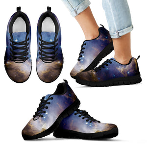 Kid's Sneakers Galaxy in Motion - Black Soles