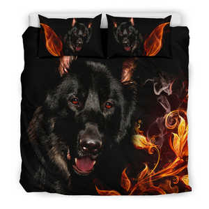 Bedding Set - Black German Shepherd