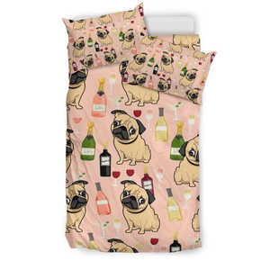 Bedding Set - Pug & Drink