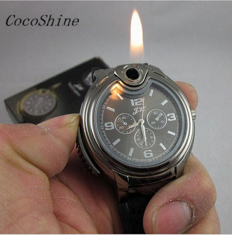 Refillable Butane Gas Lighter Watch