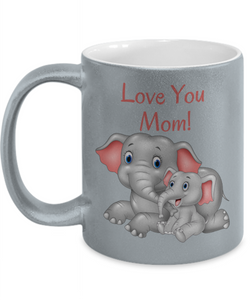 Mug - Love You Mom Metallic Color Mug