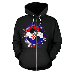 Croatia Soccer Zip-Up Hoodie Women