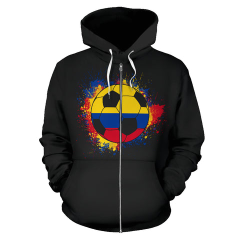Colombia Soccer Zip-Up Hoodie Women