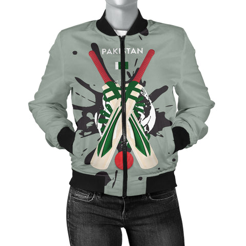 Women's Bomber Jacket - Cricket Collection (Pakistan)