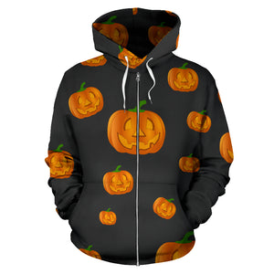 Kid's Zip-Up Hoodie - Pumpkin Power