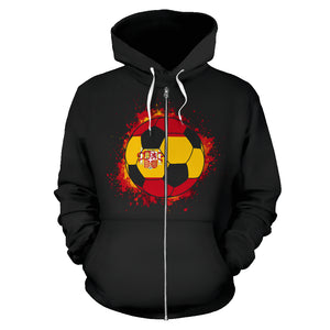 Spain Soccer Zip-Up Hoodie Women