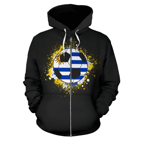 Uruguay Soccer Zip-Up Hoodie Men