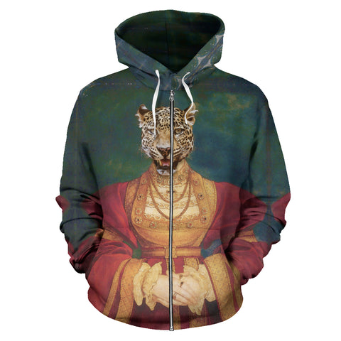Men's Zip-Up Hoodie - Renaissance Remorphed (Anne of Cleves)