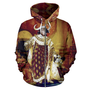 Kid's Zip-Up Hoodie - Renaissance Remorphed (Louis XVIII)