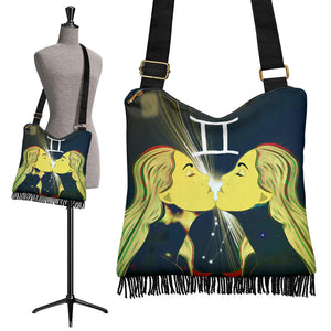 Crossbody Boho Handbag - Zodiac Collection (Gemini)