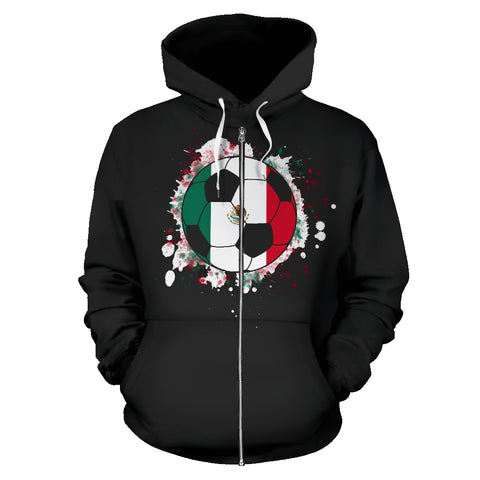 Mexico Soccer Zip-Up Hoodie Men